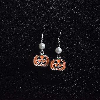 Halloween náušnice Personalizované tekvicové perlové náušnice