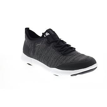 Geox U Nebula X Mens Black Canvas Euro Sneakers Chaussures