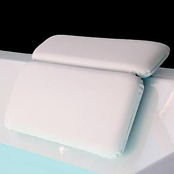 Non-slip Suction Bathtub Pillow Soft 2-panel Shoulder (white)