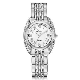 High-end Ladies Roman Numerals Quartz Watch Fashion Casual Steel Belt Women Wat