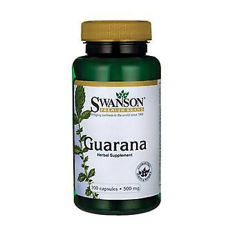 Guarana, 500mg 100 capsules