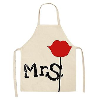 Couples Kitchen Aprons- Unisex Cooking Bibs, Cotton Linen, Pinafore Cleaning