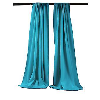 La Leinen Pack-2 Polyester Poplin Hintergrund Drape 96-Zoll breit von 58-Zoll hoch, dunkel Türkis