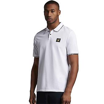 Lyle & Scott Casuals Tipped Polo Shirt - White