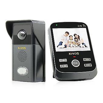 300.000 Pixels 3.5 Lcd 2.4ghz Wireless Intercom Door DoorBell Kdb303