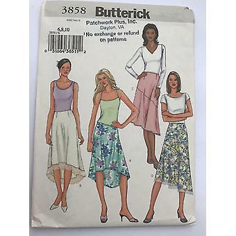 Butterick ompelu kuvio 3858 Misses Löysä Asennus Hame Koot 6-10 UC