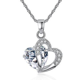 Fashion Heart Pendants Crystal Jewelry