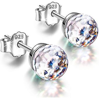 Wokex Ohrringe Geschenke fr Frauen, Fantastic World Series Ohrstecker, 925 Sterling Silber, 6mm