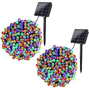 FengChun LED Solar Lichterketten Auen, 22m 200 LED 8 Modi Wasserdicht fr Outdoor Party, Haus