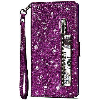 FengChun-Entsen-Brieftasche Hülle für Huawei Mate 10 Lite, Bling Glitzer Leder Handyhülle