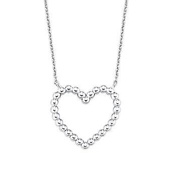 Amor - Naisten kaulakoru sydämenmuotoisella riipuksena, hopea 925(1)