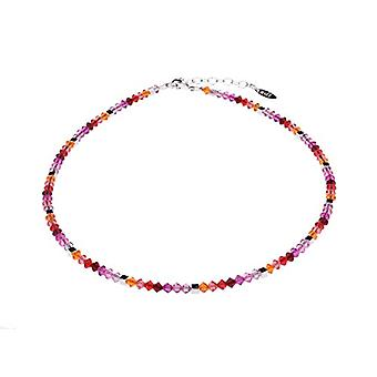 """by - Delicate """"Sana"""" glass necklace, with small polished glass beads and silver cubes, handmade in Berlin Ref. 425118864672"""