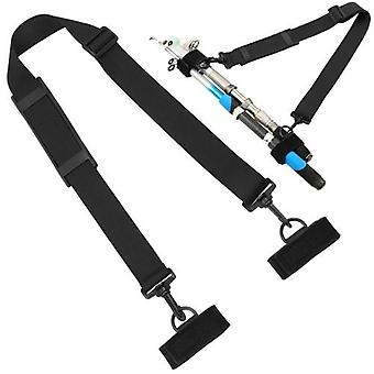 Fishing Rod Strap Belt Adjustable Fishing Rod Pole Holder Shoulder Belt Carry Strap Sling Band with 2 Fixing Strap Fishing Rod Tackle