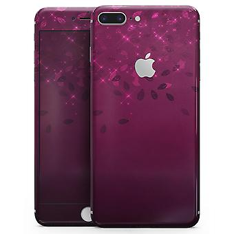 Faded Falling Leaves Of Burgundy - Skin-kit For The Iphone 8 Or 8 Plus