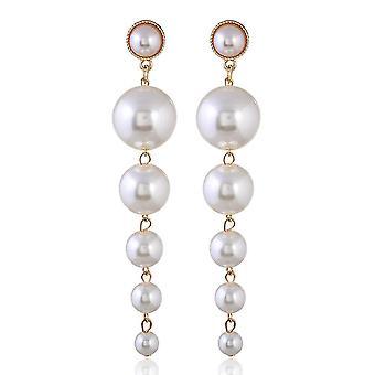 Long Earrings Pearl Tassel Alloy Ear Studs For Ball