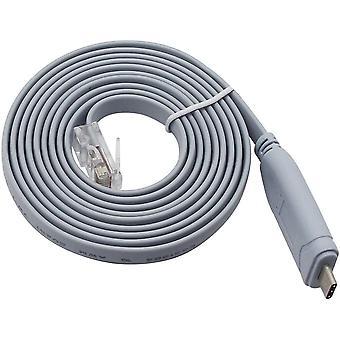 QiCheng&LYS USB Console Kabel mit FTDI Chip, USB zu RJ45 Console Kabel für Router/Windows 7,8 /