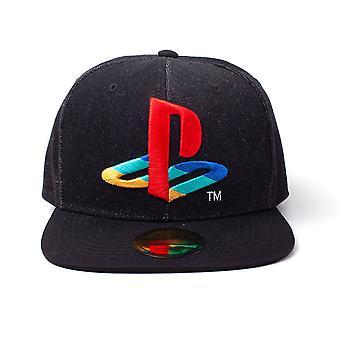 Sony - Logo Denim Unisex Snapback Cap - Black