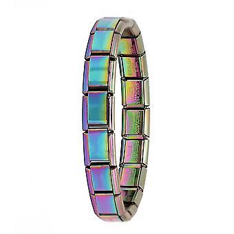 Kvinders smykker Elastisk armbånd, rustfrit stål armbånd (farve)
