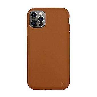 Eco friendly leather brown iphone 12 pro case
