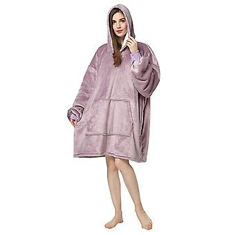 YANGFAN Womens Warm Nightgown Hooded Pullover with Pocket