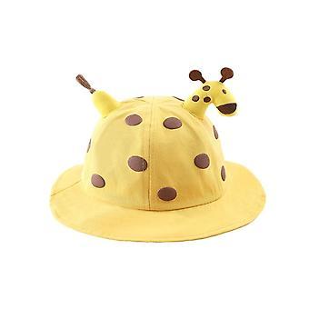Kinderen zonnehoed mooie giraffe pop versieren hoed voor jongens meisjes lente herfst dot solide ademende kinderen peuter visser hoed