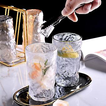 2pcs Glacier Pattern Whiskey Glass Cup, Hand-made Glasses Bottle Mugs