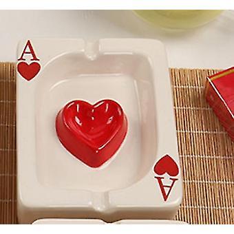 Ashtrays european poker ashtray creative porcelain ashtray fashion trend household merchandises