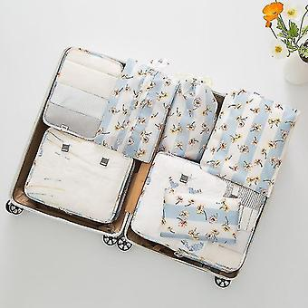 Packing organizers 7 piece set of luggage packing travel organizer cubes and pouches daisy