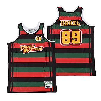 Men's Family Matters #89 Urkel Tv Show Basketball Jersey Stitched Sports T Shirt Size S-xxl