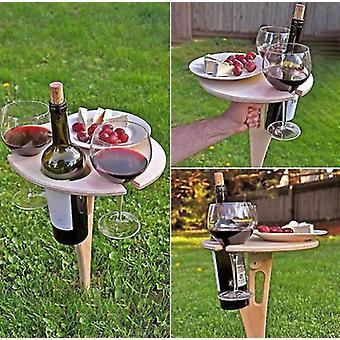 Table à vin portable extérieure avec bureau rond pliable