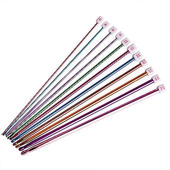 11 kpl / Aseta virkatut koukut neulasarja valikoima värejä Tunisian Afganistanin alumiinineulojen työkalut