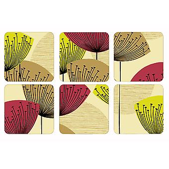 Pimpernel Dandelion Clocks Coasters Set of 6