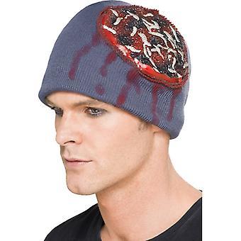 Beanie kalap Halloween kalap az agy és a kukacok horror