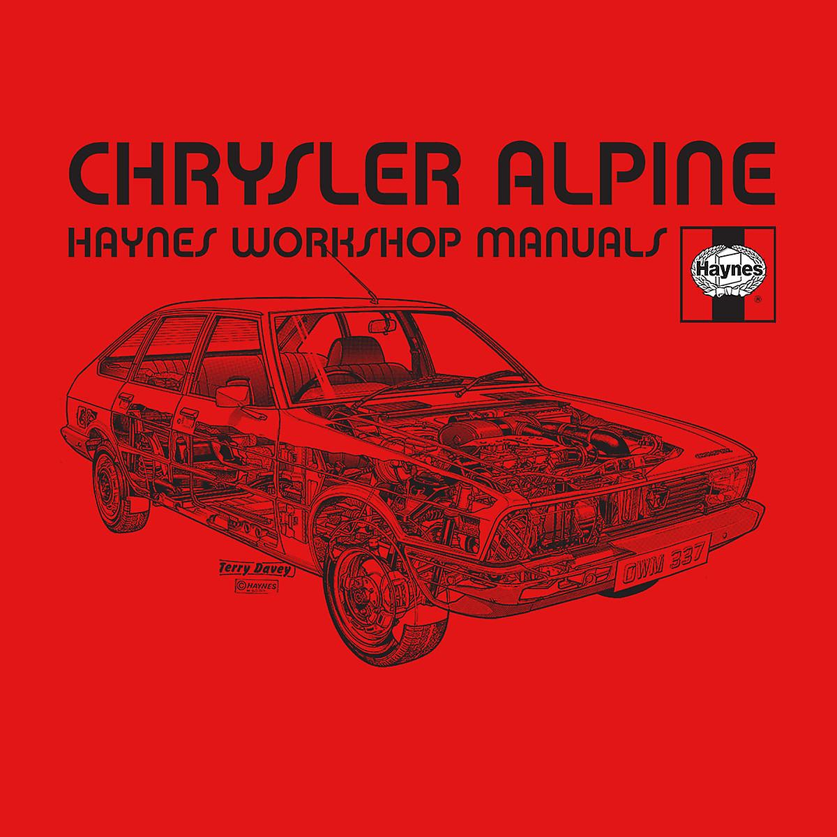 Haynes Workshop manuell 0337 Chrysler Alpine svarte menn Vest