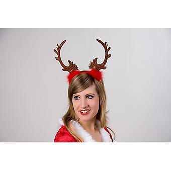 Haarreif Tiare Rentier Weihnachten Rentierhaarreif