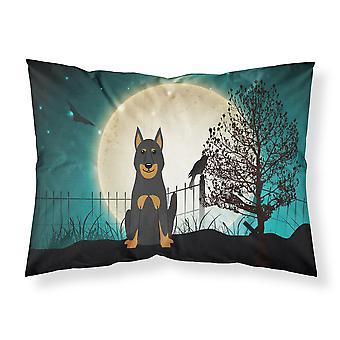 Halloween Scary Beauce Shepherd Dog Fabric Standard Pillowcase
