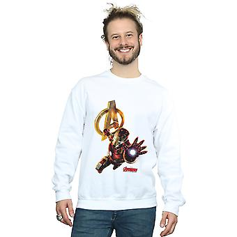 Marvel Men's Iron Man Pose Sweatshirt