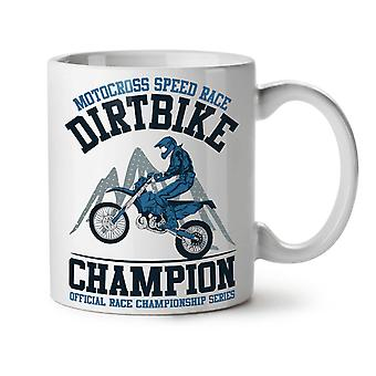 Motorbike Dirt Race Biker NEW White Tea Coffee Ceramic Mug 11 oz | Wellcoda