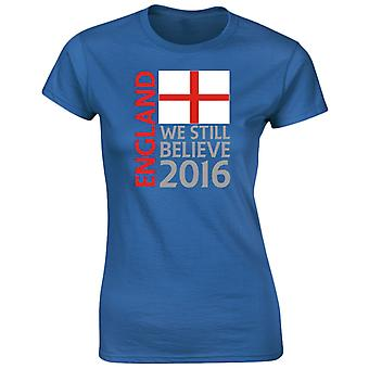 England Football Supporters Womens T-Shirt 8 Colours (8-20) by swagwear
