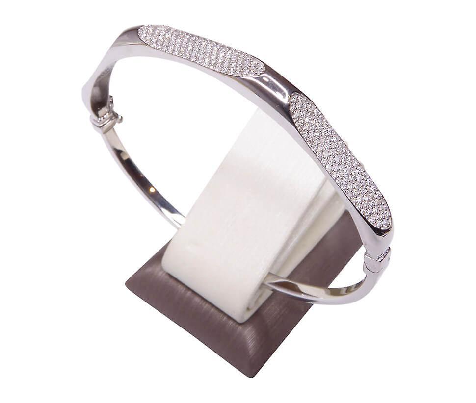 Wit gouden 14 karaat armband