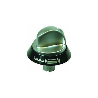 Indesit sølv og svart komfyr kokeplate kontrollknappen