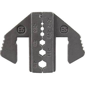 TOOLCRAFT 1423401 Crimp-Einsatz Koaxialstecker, FOC-Stecker RG174, RG179, RG8218 Passend für Marke TOOLCRAFT 1423556