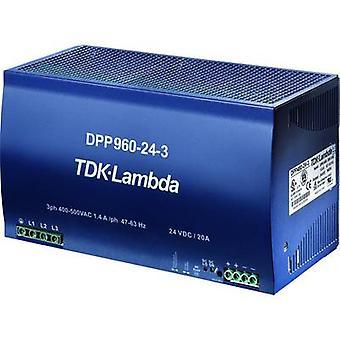 TDK-Lambda DPP-960-48-3 Rail mounted PSU (DIN) 48 V DC 20 A 960 W 1 x