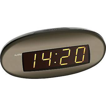 TFA Dostmann 60-2005 kwarts alarm klok bruin alarmtijden 1