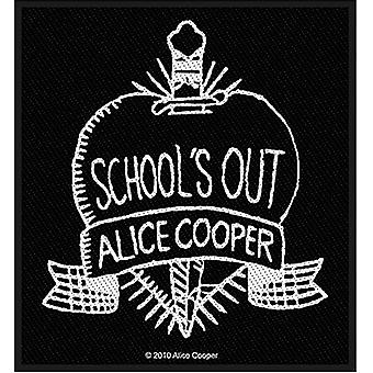 Alice Cooperin School'S Out B&W Ompele-On kangas Patch