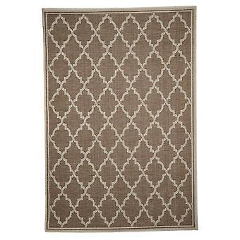 Buiten tapijt voor terras / balkon tapijt binnen / buiten - voor indoor en outdoor woonkamer bruin beige 160 x 230 cm
