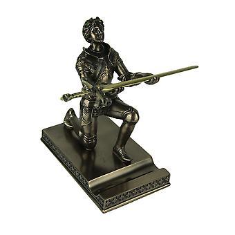 Joan of Arc Kneeling Letter Opener / Pen Holder Bronze Finish Statue
