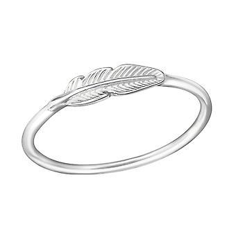 Feder - 925 Sterling Silber Plain Ringe - W38130X