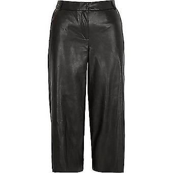 Ex River Island Leather-Look Culottes