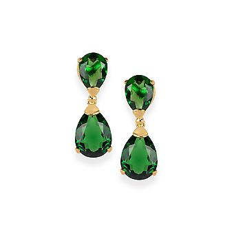 Green earrings with Crystals from Swarovski 4642
